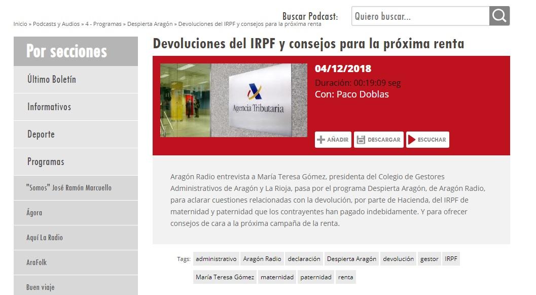 Devoluciones IRPF